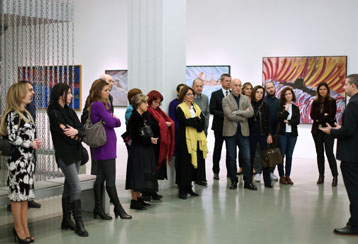 Meeting with Museum Director in exhibition tour and dinner